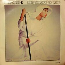 "Dee C Lee(7"" Vinyl)Hey What'd Ya Say?-CBS-A7294-65-1986-VG+/NM"