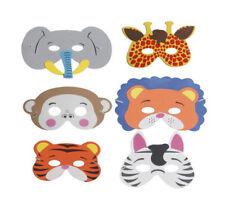 Stampa Animale Maschere Per Bambini Costume Festa Confezione da 6