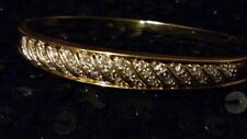 STUNNING 9ct 375 Yellow Gold & 33 Diamonds Bangle/Bracelet*DIAMONDS ARE FOREVER