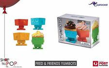 Fred & Friends YUMBOTS Robot Baking Cups, Set of 4 BNIB Silicone Cupcakes KIDS