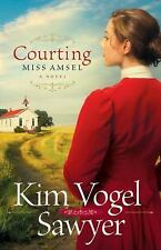 Courting Miss Amsel by Kim Vogel Sawyer Paperback Historical Fiction