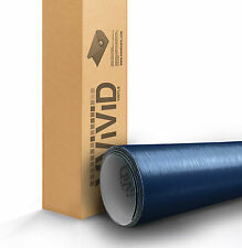 VVIVID Blue brushed aluminum 1ft x 5ft vinyl car wrap decal 3mil paint-protect