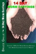 NEW 14 Day Worm Castings: Convert 100% of Worm Bedding Material Into Worm Castin