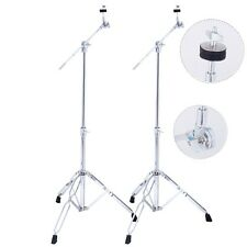 2 Pack Cymbal Boom Stand Drum Hardware Percussion Double Braced Tripod Hold