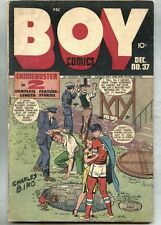 Boy Comics #37-1947 gd+ Crimebuster / Charles Biro Little Dynamite