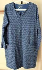 EUC Gudrun Sjoden Long Sleeve Dress Tunic With Front Pockets Organic Cotton Sz M