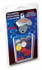 Wall Mount Bottle Opener Set (Open Bottle Here)