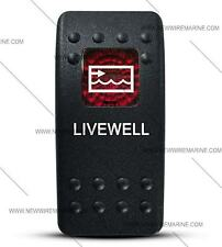 Labeled Contura II Rocker Switch Cover ONLY, Livewell-(Red Window)