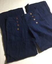 daughters of the Liberation 100% Linen High Waisted Sailor Pants Size 6 USA