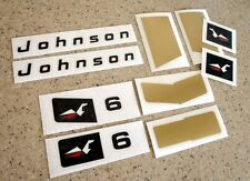 Johnson 6 HP Vintage Outboard Motor Decal Kit FREE SHIP + FREE Fish Decal!