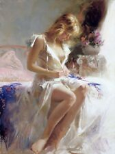 "Pino ""Early Morning"" LE Hand Signed/# Giclee on Canvas pcoa ed. 500 size 16x12"