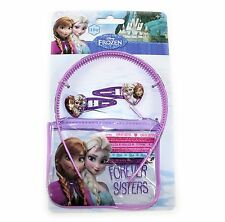 Disney Frozen Hair Accessories Pack Elsa Anna Clips Hair Bands Alice Band Purse