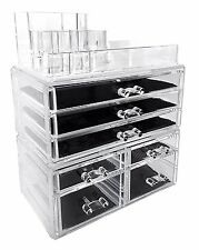 Acrylic Makeup Cosmetic Organizer Storage Display Drawer Jewelry Holder Box Case