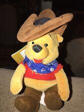"8"" Cowboy Pooh Winnie the Pooh Disney Store Plush Mini Bean Bag (KC)"