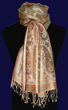 78010 LORENZO CANA - Marken Pashmina aus 100% Seide Gewebt Tuch Stola Schal