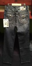 Boys True Religion Straight Fit Contrast Big T Jeans Size 12 NWT Club Blue Wash