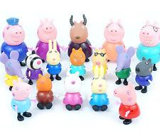 2016 Xmas Gift 17pcs Peppa Pig Grandpa Grandma Family & Friends Ms Gazelle Toys
