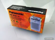 Panasonic RF-P50 tragbares Mini AM/FM Pocke Radio in Silber, RF-P50EG9-S, NEU