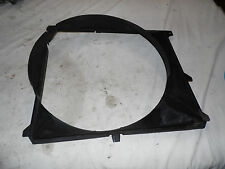 OEM 1995 BMW 525i Black Front Radiator Fan Shroud, guard protector plate cover