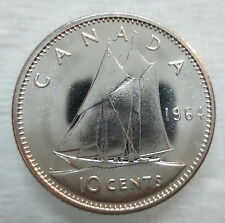 1964 CANADA 10 CENTS PROOF-LIKE SILVER COIN