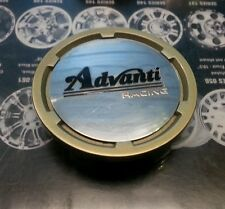 Advanti Racing gold tone edge snap in center cap C-G82