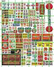 5017 DAVE'S DECAL HO 1:87 VINTAGE GROCERY STORE MARKET WINDOW PRICE DISPLAY COLA