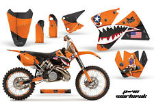 AMR Racing KTM C2/SX/XC/MXC Number Plate Graphic Kit Bike Decals 98-01 WARHAWK O