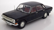 Model Car Group 1967-1992 Volga GAZ M24 Black Color in 1/18 Scale. New Release!