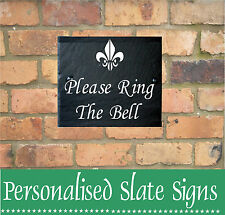 "RING THE BELL SLATE HOUSE GATE SIGN PLAQUE DOOR NUMBER HOUSE NAME 6"" X 4"""