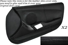 BLACK LEATHER 2X FULL DOOR CARD LEATHER SKIN COVER FITS TOYOTA SUPRA MK4 93-02