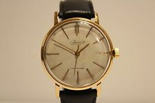 "VINTAGE RARE EARLY MEN'S GOLD PLATED MECHANICAL USSR RUSSIAN  WATCH ""VIMPEL"""