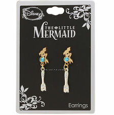 Disney The Little Mermaid Ariel Dingelhopper Fork Faux Jewel Dangle Earrings