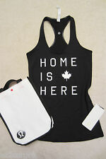 Lululemon CRB Cool Racerback Tank Canada Black 'Home is Here' 4 8 10 12