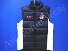 New Ralph Lauren Polo SPORT Navy Blue Crested USA Poly Puffer Down Vest sz L