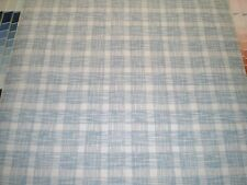 Gray and Blue Plaid on White Wallpaper by Sunworthy  41285430