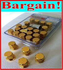 RAYS ENGINEERING STYLE M12X1.5 SECURITY LOCK NUT CLOSED END WHEEL NUTS LUGS GOLD