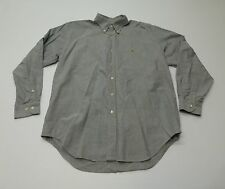 Ralph Lauren Mens Size L Blue Yarmouth Button Front Shirt Great Condition