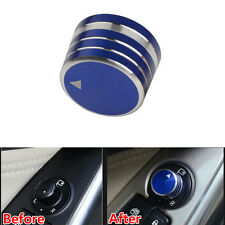 Blue ABS Rearview Mirrors Switch Button Ring Cover Trim For Mazda M3 Axela CX-3