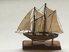 Artisan Dollhouse Miniature Handcrafted Clipper Ship Signed 1:12 Boat Sail Wood
