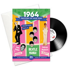 1964 52nd Birthday   Anniversary Gift -1964 4-In-1 Card,Book,CD and Download