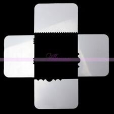 4x Estampado Borde Plástico Lateral Espátulas Fondant Glaseado