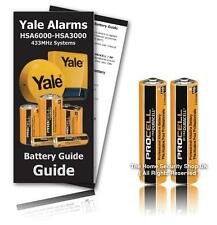 Yale Alarms HSA3010 HSA3000 Door Window Detector Battery KIT (Including Guide)