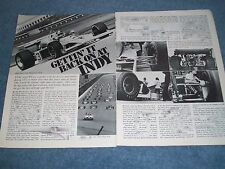 "1974 Indy 500 Race Highlights Vintage Article ""Getting' it Bak on at Indy"""