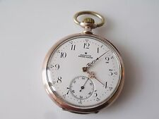 VINTAGE 0.800 SILVER CASED ZENITH POCKET WATCH GRAND PRIX PARIS 1900