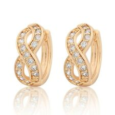 Precious lady earring 18k Gold Filled white sapphire hoop earring