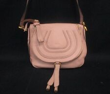 Authentic Chloe PinkBeige Marcie Leather Shoulder Bag