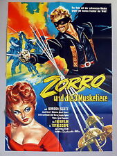 GORDON SCOTT * ZORRO und die 3 Musketiere - A1-FILMPOSTER - German 1-Sheet ´63 L