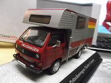 VW Volkswagen T3a Pritschenwagen Tischer Camping rot red Premium Classixxs 1:43