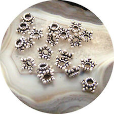 50 Bali Sterling Silver 5x3mm Star Bead Caps  #742