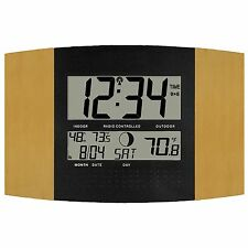 WS-8147U-IT La Crosse Technology Atomic Digital Wall Clock Temperature TX37U-IT